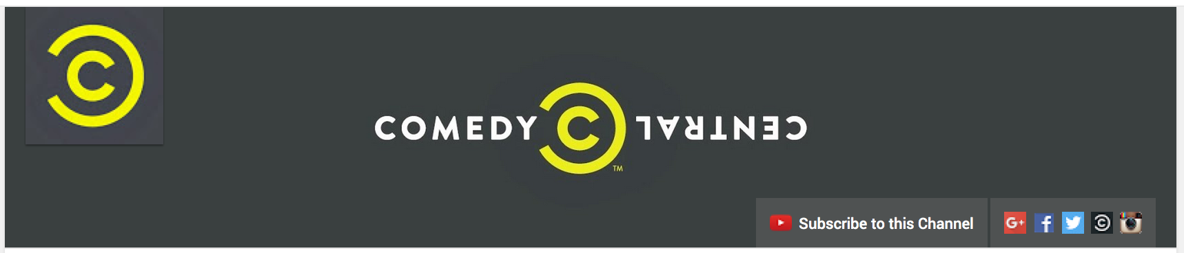 Comedy Central YouTube Banner