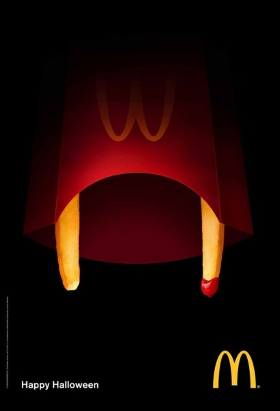 mcdonalds cheeseburger ghost floating advertisement