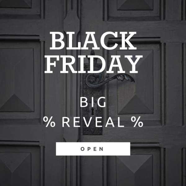 Black Friday Reveal Banner Template with a door