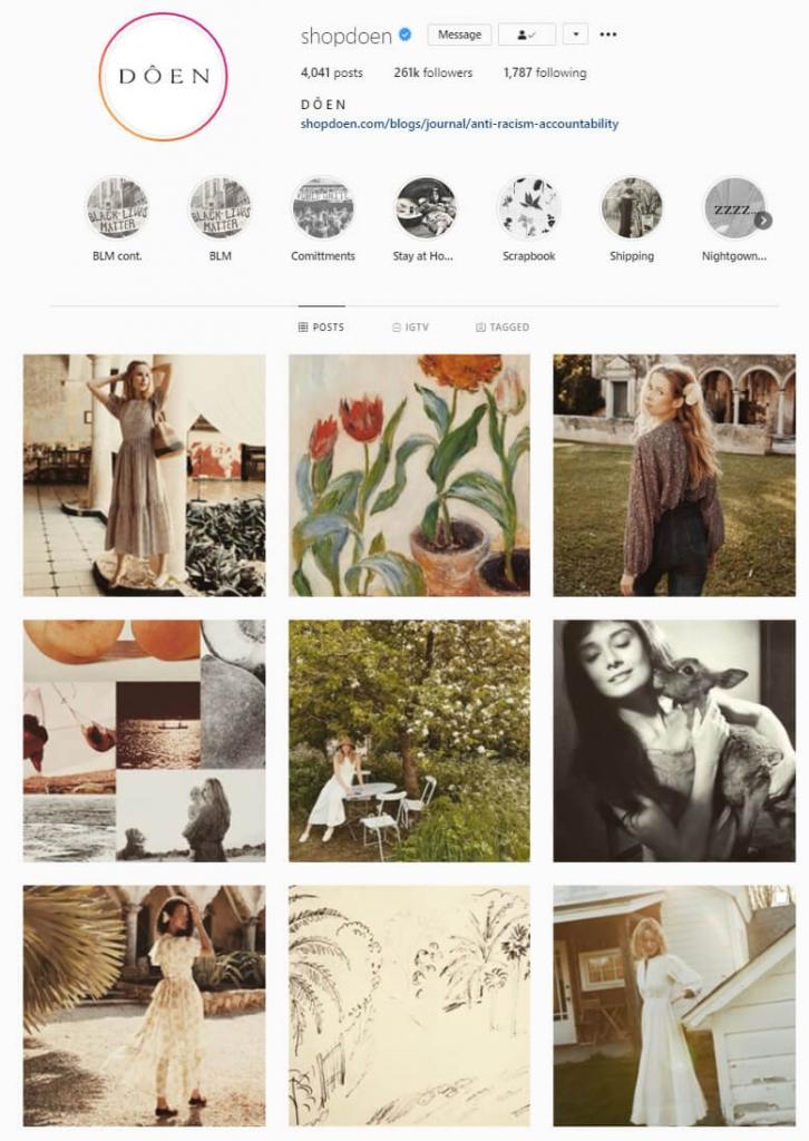 intagram feed ideas vintage theme