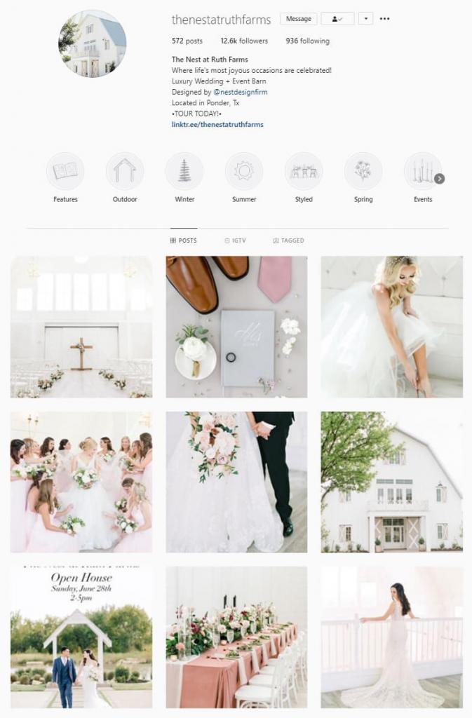 Instagram feed white bright theme