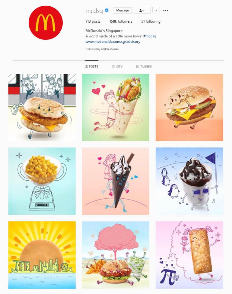 instagram feed ideas illustration theme