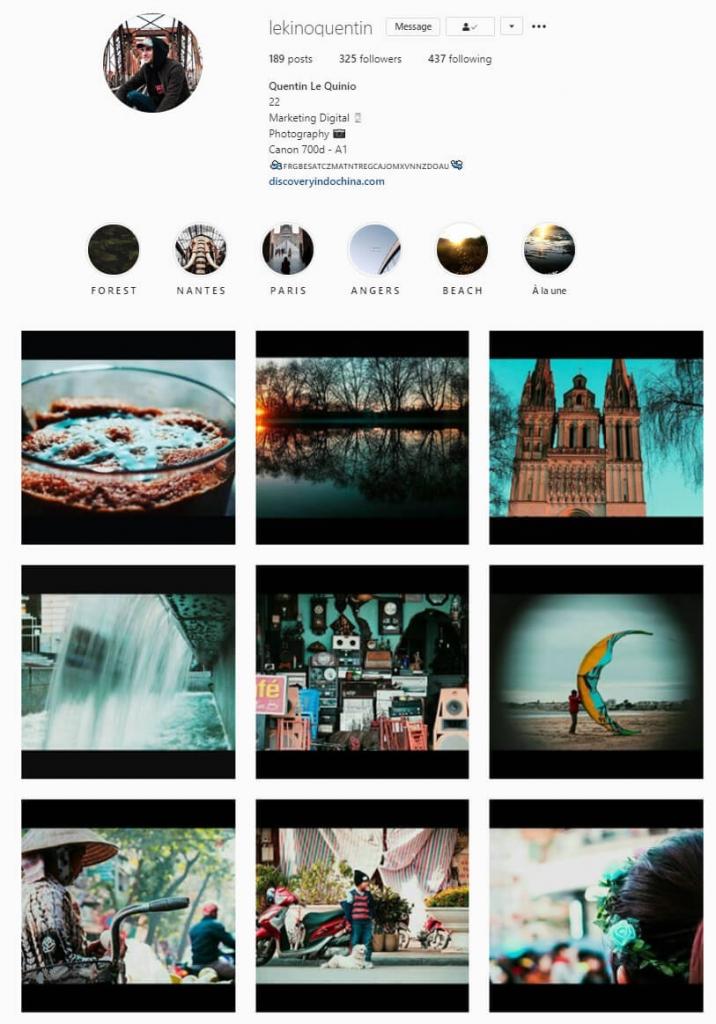 instagram feed black borders theme