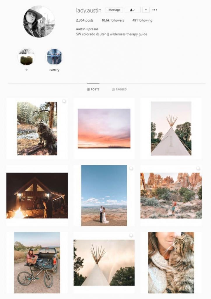 instagram feed white border theme