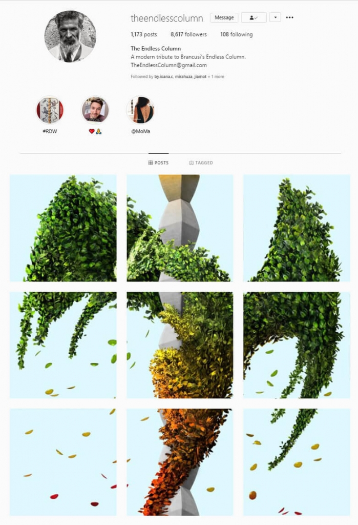 intagram feed Puzzle Grid Themes