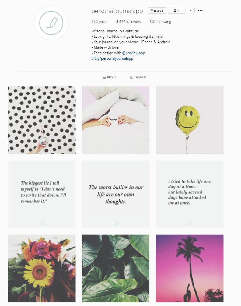 instagram feed horizontal lines theme