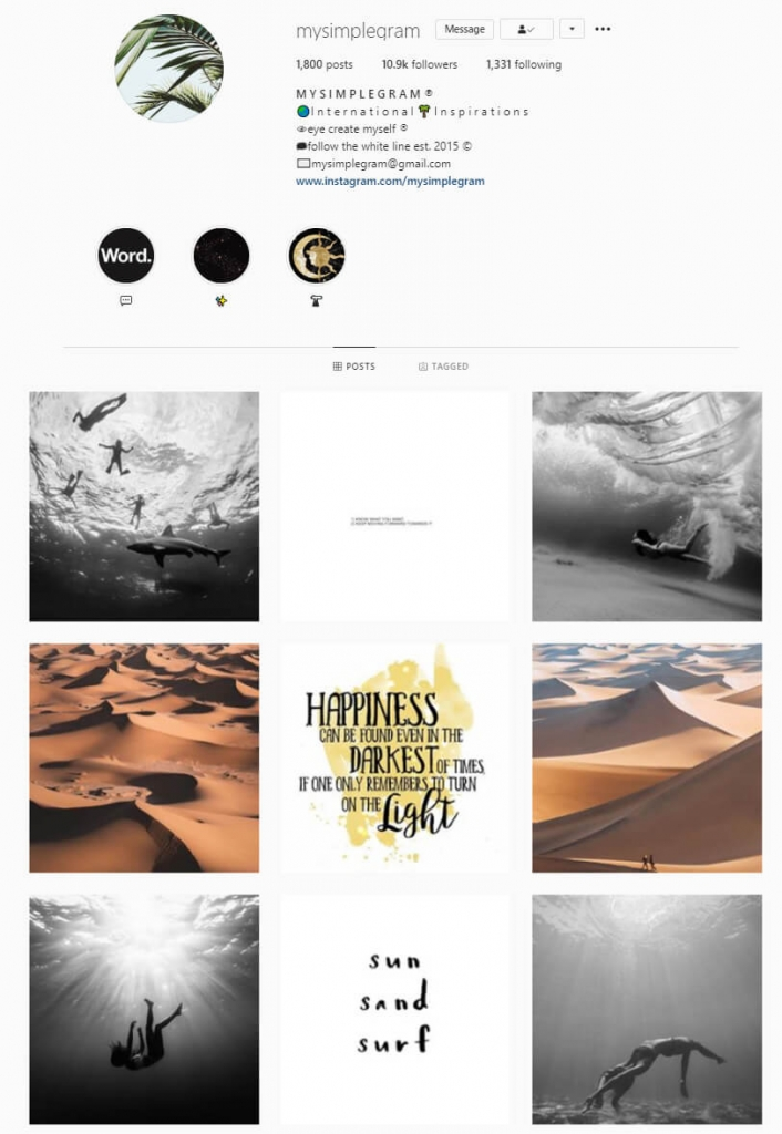 instagram feed vertical lines theme