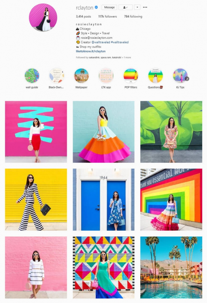 instagram feed color block theme