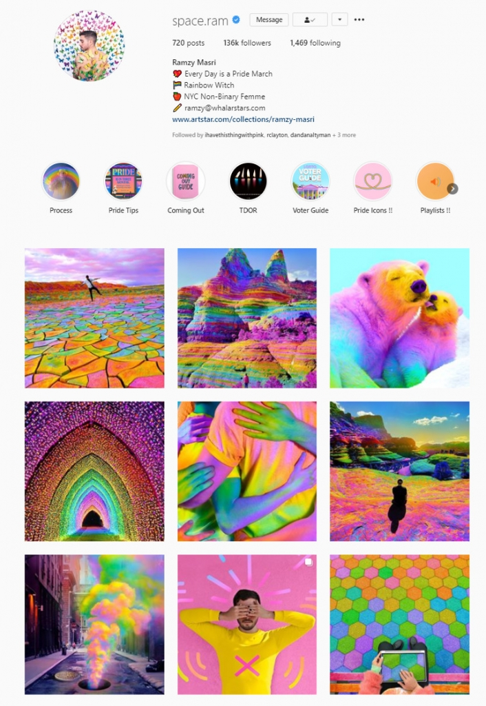 instagram feed color block themes
