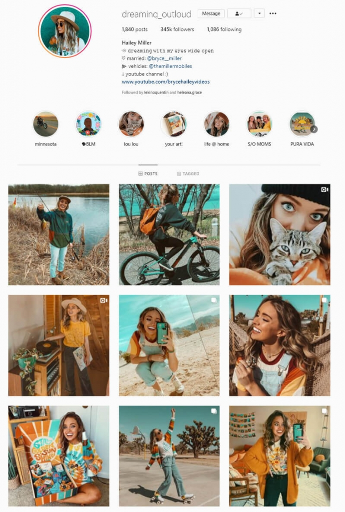 instagram feed color coordinated themes