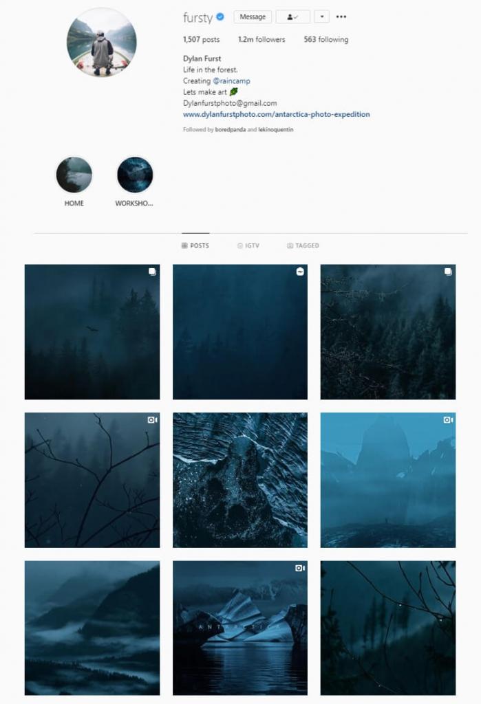 instagram feed idea blue theme