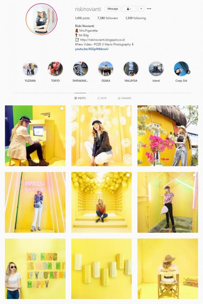 instagram feed ideas yellow theme