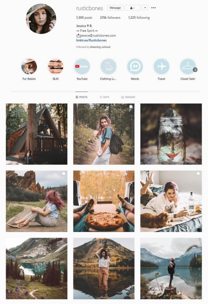 intagram feed same filter theme