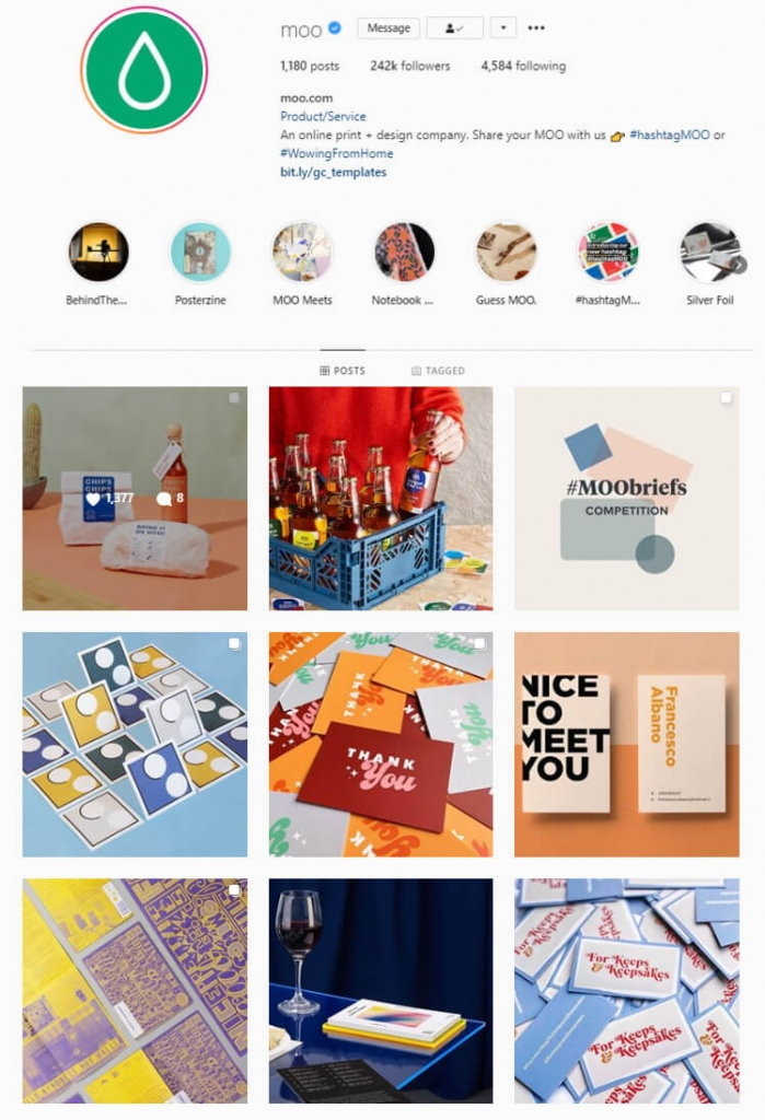 contextual theme instagram feed idea