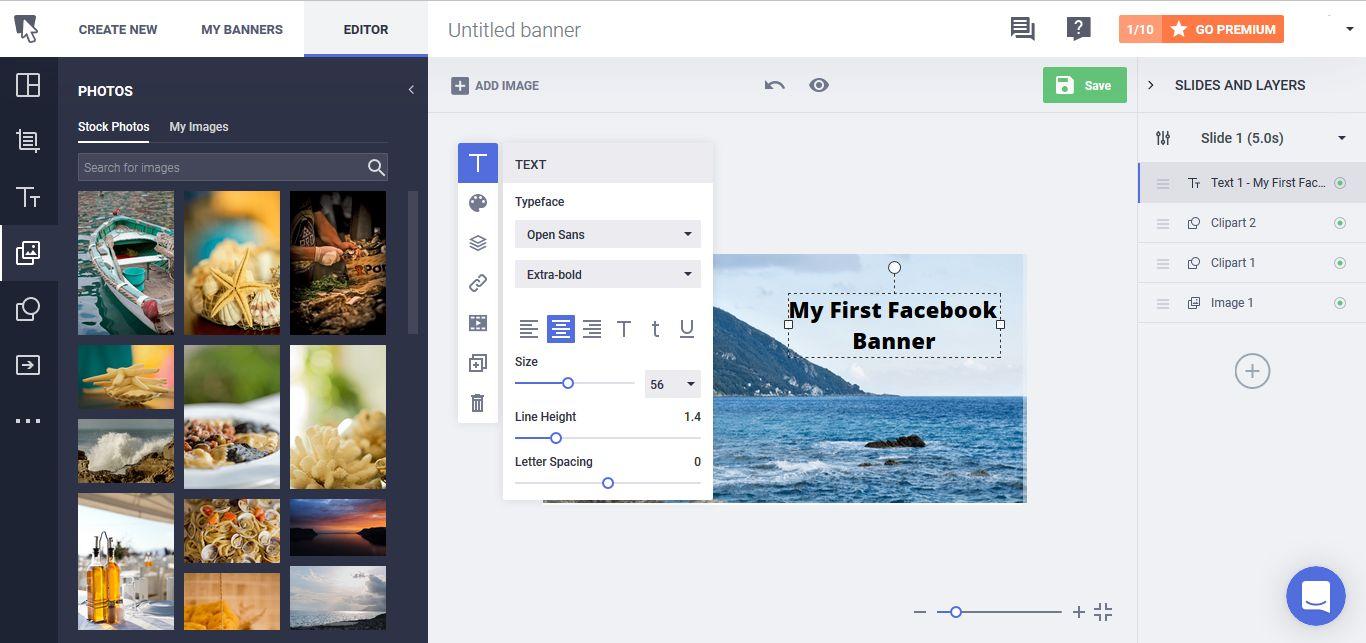 Facebook banner maker BANNERSNACK