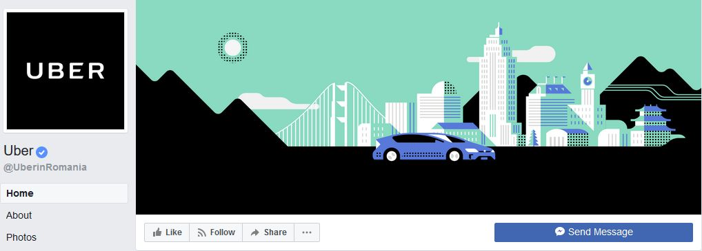 Uber Facebook banner example