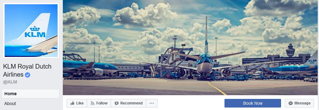 KLM Facebook banner example