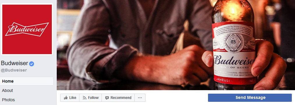 Budweiser Facebook banner example