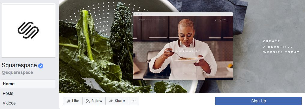 Squarespace Facebook banner example