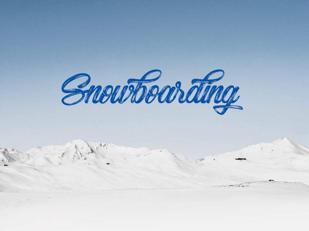 Snowboarding brush font