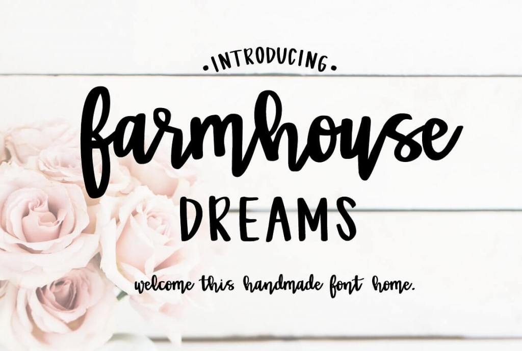 Farmhouse Dreams brush hand writing font