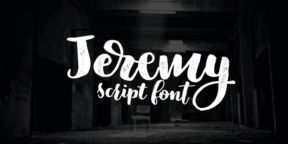 Jeremy hand lettering font