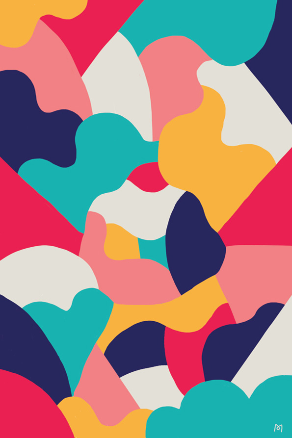 graphic design patterns- multicolored patterns