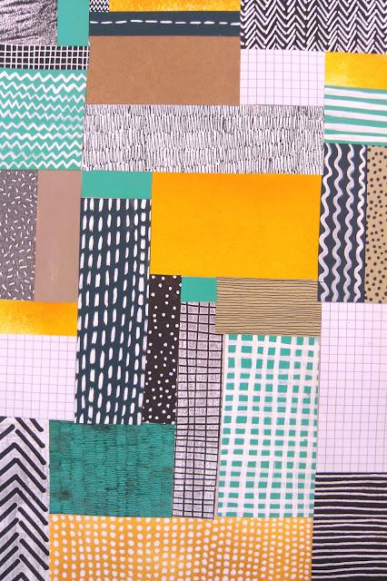 graphic design patterns - collage patterns