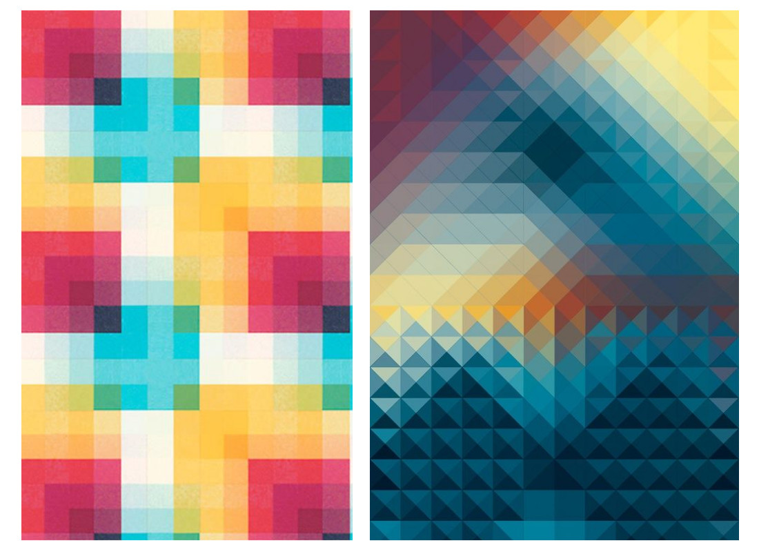 graphic design patterns - pixelated patterns