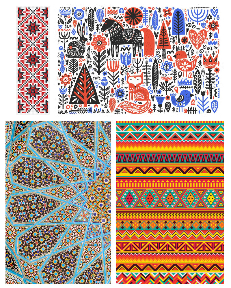 graphic design patterns - traditional patterns