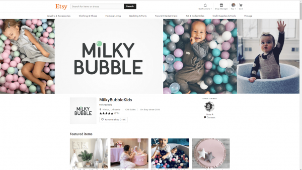 Etsy Banner Kids Example