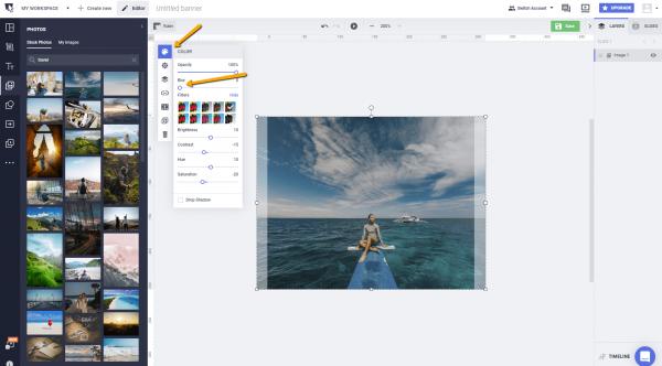 Blur photos add text to photos