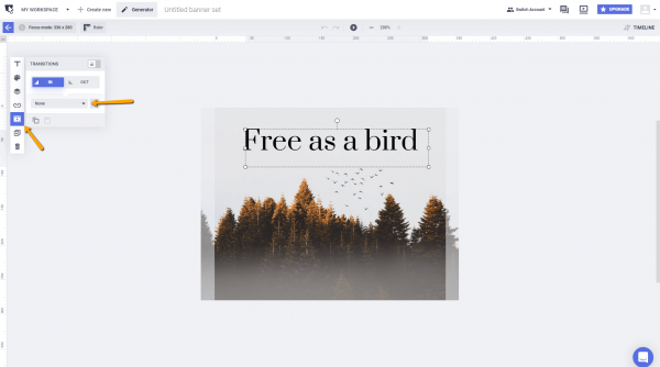 how to add animated text to photo