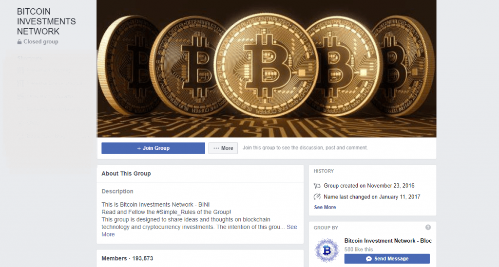 Bitcoin Facebook Group Cover photo