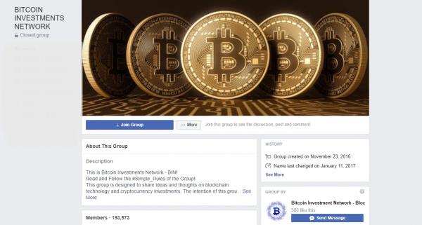 Bitcoin Facebook Group Cover photo