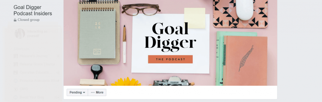 Goal digger Facebook group cover photo