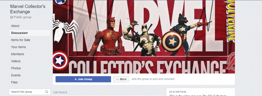 Marvel facebook group cover photo