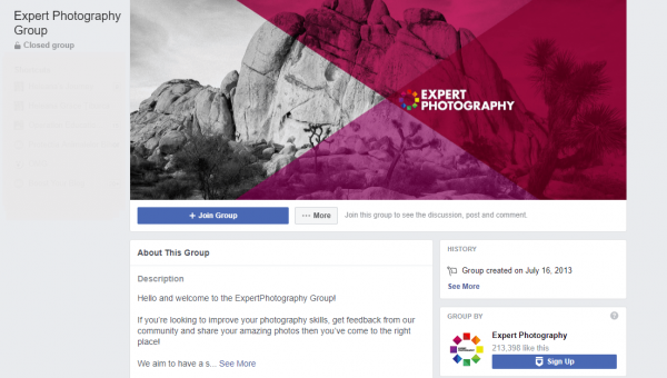 Photographer Facebook Group Cover Photo Size