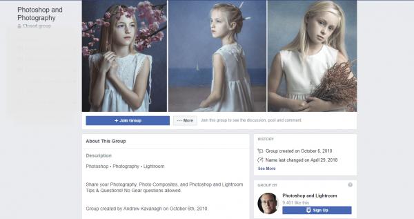 Photography Facebook Group cover photos size 2019