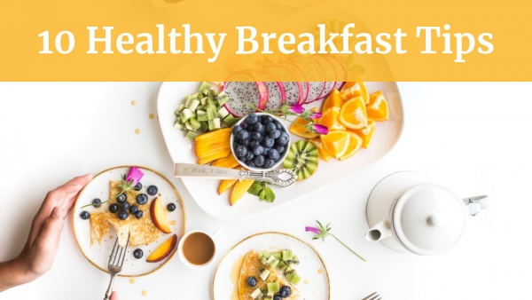 Healthy Breakfast Tips YouTube thumbnail template