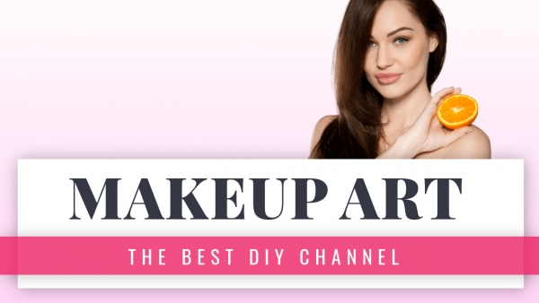 Makeup art YouTube thumbnail template