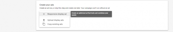 Google responsive display ad create