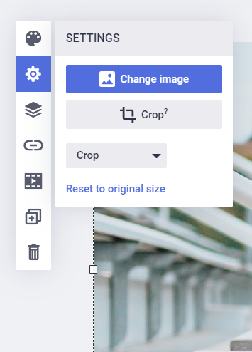 Crop image feature