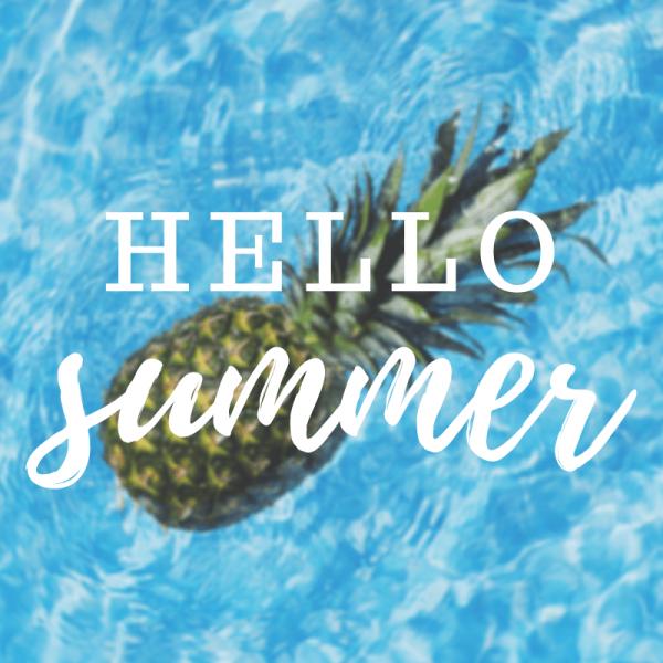 hello summer quote graphic design