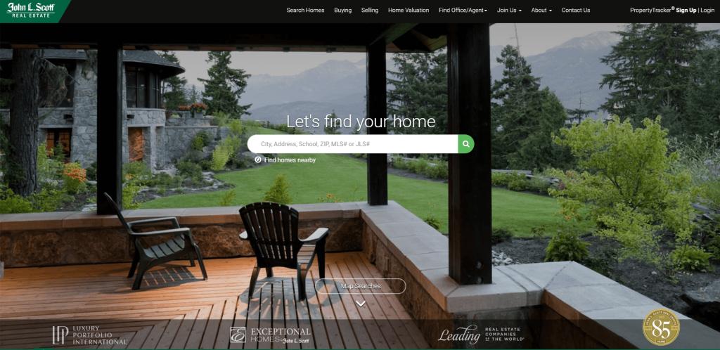 real estate marketing johnlscott website