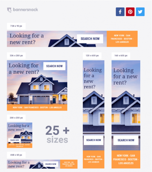 real estate marketing bannersnack.com templates