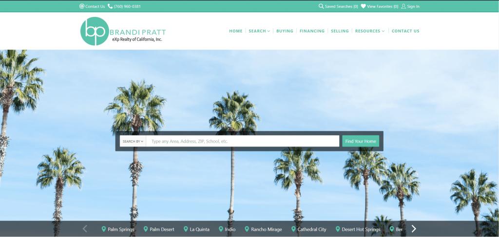 real estate marketing brandiprattrealestate homepage