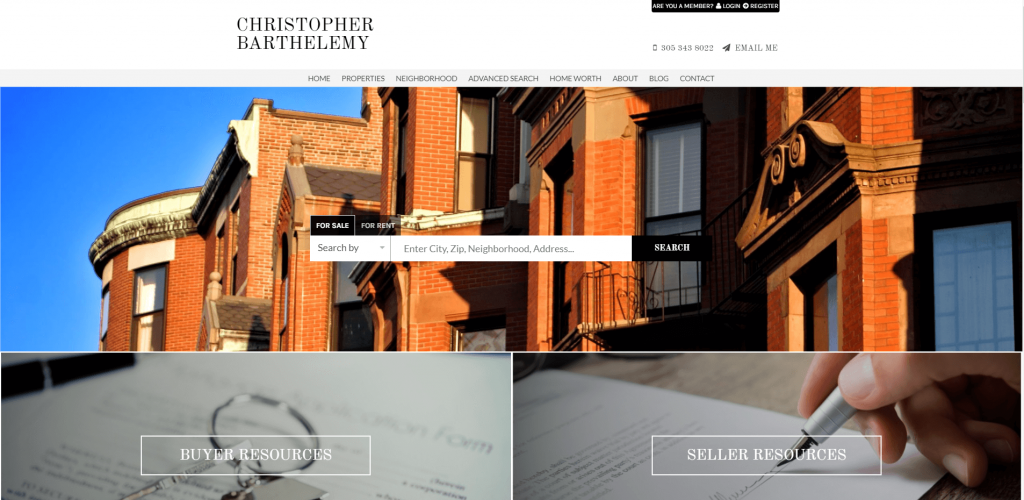 real estate marketing chronarealty website