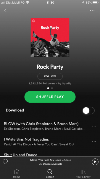 rock party spotify cover photo