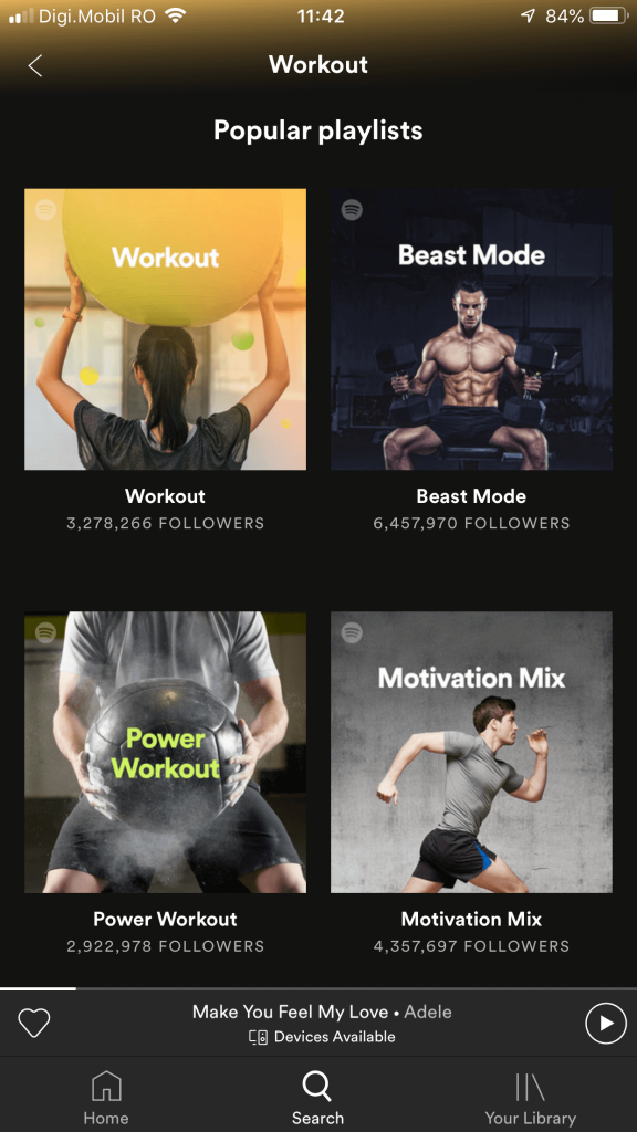 work out playlist spotify